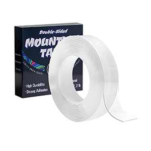 Double Sided Tape Heavy Duty: Multipurpose Mounting Tape for Walls - Strong Transparent Adhesive Tape - Washable Removable Poster Tape for Home/Office/Car Decor - Fix Carpet Mats- 16.4 FT -1.18 inch