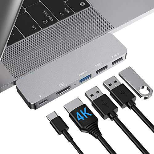 "USB C Adapter MacBook Pro HDMI Accessories, MacBook Air Type C Hub USB Adapter with 4k HDMI, Thunderbolt 3 USB C Power Delivery for MacBook Pro 13"" 15"" 16"" 2020/2019-2016, MacBook Air 2020-2018"