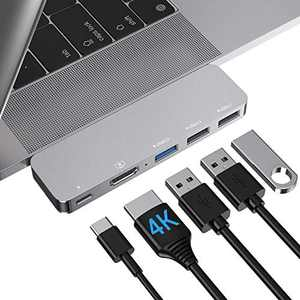 """USB C Adapter MacBook Pro HDMI Accessories, MacBook Air Type C Hub USB Adapter with 4k HDMI, Thunderbolt 3 USB C Power Delivery for MacBook Pro 13"""" 15"""" 16"""" 2020/2019-2016, MacBook Air 2020-2018"""