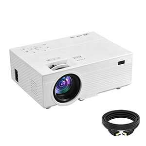 OSEVEN Mini Projector, 6000 Lux, Full HD 1080P Home Movie Projectors, Compatible with TV Stick, Video Games, HDMI,USB,TF,VGA,AUX,AV,Laptop [2020 Latest Upgrade]