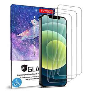 """FJYQOP Compatible with iPhone 12 Mini 5.4"""" 5G 2020 Screen Protector, 9H Hardness Premium Tempered Glass Film Scratch-Resistant, Bubble Free, Case Friendly and Ultra-Thin Clear HD [3 Pack]"""