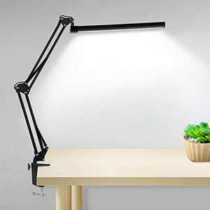 LED Desk Lamp with Adjustable Joints and Flexible Bracket,3 Color Modes and Dimmable Step-Less Brightness, Eye-Caring Table Lamp Flexible Swing Arm Lamp for Study/Reading/Work