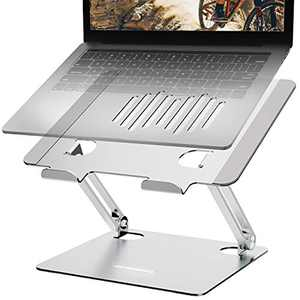 Laptop Stand for Desk Computer Stand Accessories Adjustable Aluminum Laptop Riser Hoder Compatible with MacBook Pro All 10 to 17Inches Laptops-Silver