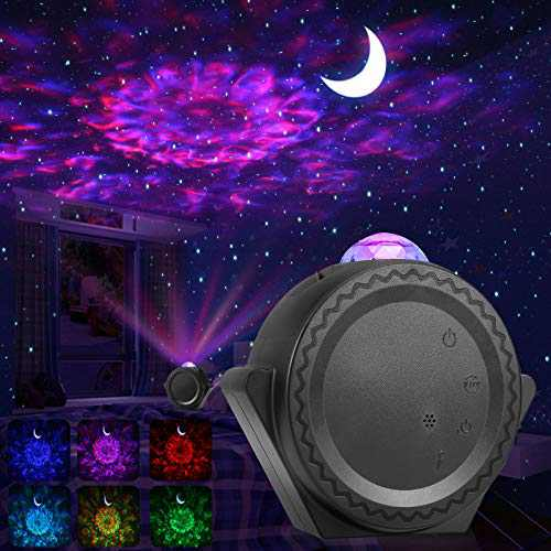 ALOVECO Star Projector, Night Light Projector LED Nebula Cloud Light with Moon Star, Touch&Voice Control Auto-Off Starry Sky Galaxy Projector for Game Room Party Home Theatre Night Light Ambiance