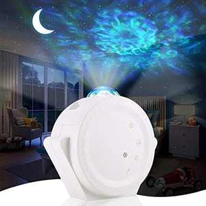 ALOVECO Star Projector 3-in-1 LED Night Light Projector with Moon Star Nebula Cloud Touch&Voice Control LED Projector Lights Sky Projection Lamp for Kids, Bedroom,Game Room,Home Theatre