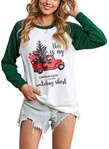 Zecilbo Womens Colorblock Casual Cute Oversized Sweatshirts Colorblock Casual Cute Oversized Blouses Tunics Green, Large