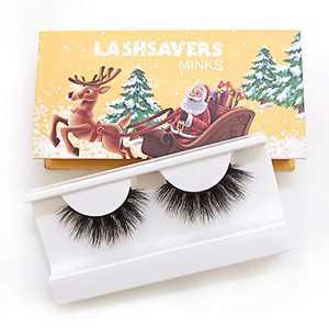 KallyHair Christmas Eyelashes 100% Siberian Real Mink Lashes | Soft Cotton Band 3D Mink Eyelashes | Christmas Box Real Mink Lashes for Women