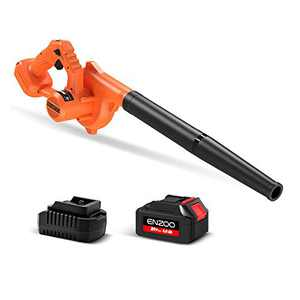 ENZOO 4.0Ah Battery Mini Cordless Leaf Blower / Dust Vacuum for Light Yard Work Hard Surface Sweeping with Charger Variable Speed MAX 20V 2-in-1