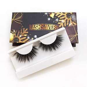 KallyHair Eyelash 100% Siberian Real Mink Lashes | Soft Cotton Band 3D Mink Eyelashes | Christmas Box Real Mink Lashes for Women