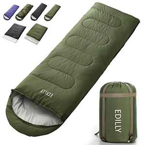 EDILLY Camping Sleeping Bag for Adults and Kids, 4 Seasons Warm Cold Weather Lightweight, Portable, Waterproof Backpacking Sleeping Bags Perfect for Hiking Traveling,Indoor & Outdoor Use