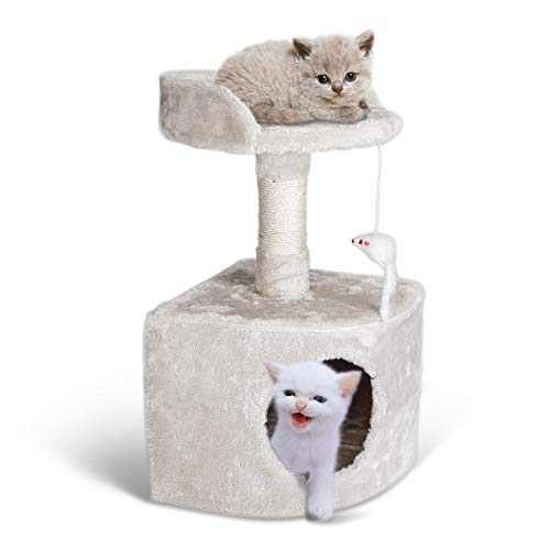 Miroddi Cat Tree Tower with Platform,Scratching Posts for Big and Small Cats Kittens