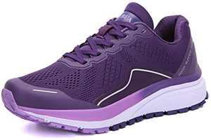 KUBUA Women's Road Running Shoes Arch Supportive Breathable Sneakers Purple