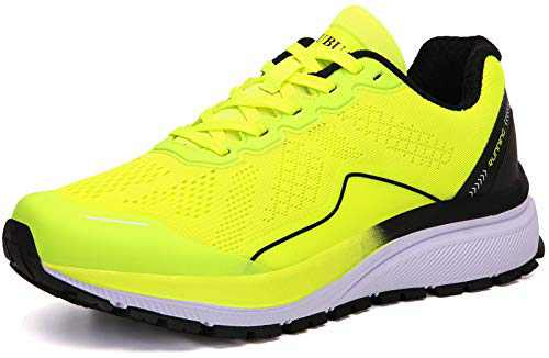 KUBUA Women's Road Running Shoes Arch Supportive Breathable Sneakers Green
