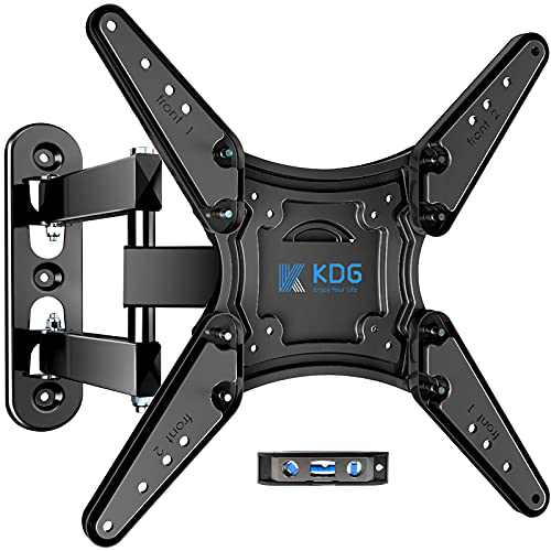 KDG Full Motion TV Wall Mount for Most 26-55 Inch Flat Curved TVs with Swivels Tilts,VESA 400x400mm,Up to 66 lbs