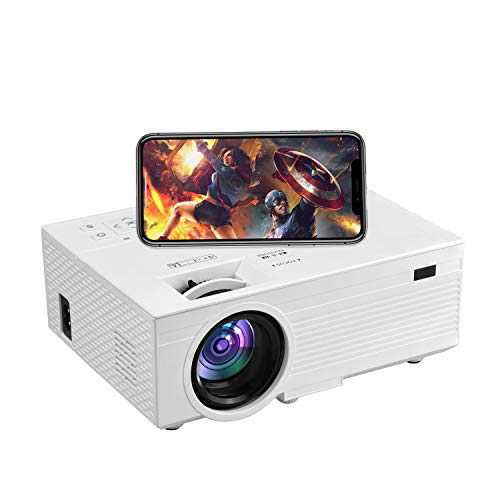 1080P HD Projector, iPhone Projector, OSEVEN 6000 Lumen Portable Movie Projector, Home Theater Video Projector Compatible with ipad, TV Stick, HDMI, VGA, USB, Laptop, iOS