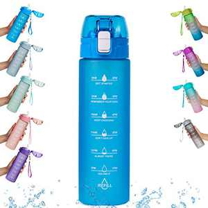 Goothdurs 24oz/50oz Motivational Water Bottle with Time Marker – Water Tracker Bottles with Times to Drink BPA Free & Leakproof for Gym,Outdoor and Office