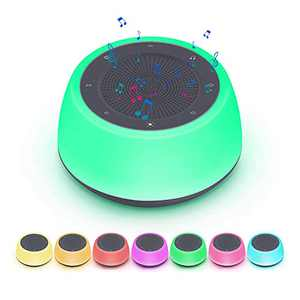 White Noise Machine for Sleeping Baby Adults - Sound Machine with Adjustable Colorful Night Lights & 16 Soothing Sleep Sounds, Timer and Memory Features, Noise Maker for Bedroom Office Travel