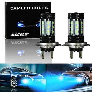 HOCOLO E Serices Ice Blue White 8000K 6000K Fog Light DRL-H7 H8 H1 H3 H4 9005 9006 880 881 5202 2504 LED Bulbs (E-H7 Fog/DRL, Ice Blue)