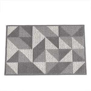 """Indoor, Outdoor Doormat , Non-Slip Rubber Entrance Door Mat, Welcome Entrance Way Rug, Geometric Design, Machine Washable(20""""X32"""", Grey-Triangle)"""