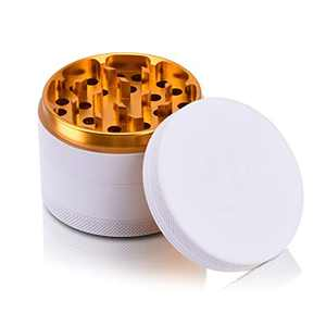 Herb Grinder, Aerial-Specification Aluminum Alloy Grinder, 2.5'' International Standard Large Capacity - Classic Design