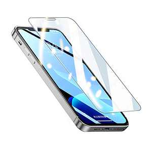 BESWON 3-Pack Tempered Glass Screen Protector compatible with iPhone 12, 12 pro, 3D Edge Anti-Scratch Tempered Glass Film for Apple 6.1 inch Screen Protector with Easy Installation Tool