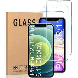 Compatible with iPhone 12 Screen Protector, Tempered Glass Screen Protector for iphone 12 Pro 6.1 inch [3-Pack]