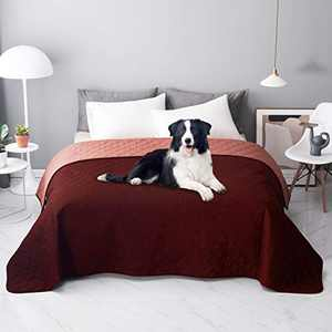 nanbowang Reversible Waterproof Blankets Dog Bed Cover for Pet Hair Sofa, Couch Cover Furniture Protector