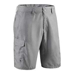 US Apparel Men's Classic Quick Dry Microfiber Swim Board Shorts (S) Gray