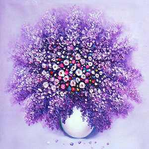 5D Diamond Painting Kits for Adults, Full Drill Crystal Rhinestone Embroidery Pictures Arts Craft for Home Wall Decor(Romantic Flower, 12x12inch Canvas)