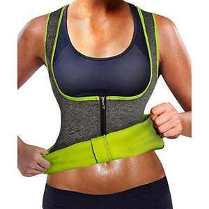 LA SHEEN Sauna Weight Loss Sweat Hot Shaper Top Neoprene Waist Trainer Vest Slimming Workout Body Shaper Sauna Suit for Women