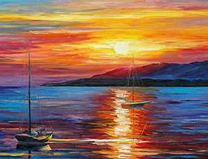 5D Diamond Painting by Number Kits, Full Drill DIY Diamond Painting Kits for Adults,Arts Craft for Home Wall Decor (Sunrise Impression, Canvas 12x16inch )