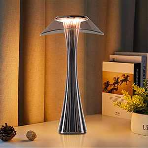 Battery Operated Table Lamp with 3 Colors Light, Dimmable Bedside Lamps with Touch Control, Eye-Caring Nightstand Lamp, Modern Lamp for Room Decor