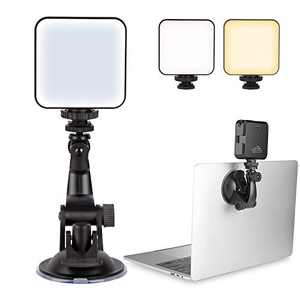 Video Conference Lighting for Remote Working, Adjustable Computer Light for Video Conferencing, Zoom Calls, Live Streaming, Photography, Rechargable Laptop Video Lighting Kit with Upgrade Suction Cup