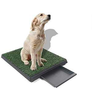 zhicheng New Grass Bathroom Mat for Indoor/Outdoor Dog Potty, Pet Portable Potty Trainer
