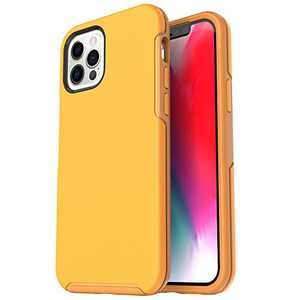 Krichit Symmetry Series Compatible with iPhone 12 Pro Max case (2020), Anti-Drop and Shock-Absorbing case Compatible with 6.7-inch iPhone 12 Pro Max Cases (Yellow)