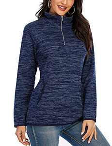 Blue Sweatshirt Navy Pullover Sweaters for Women Long Sleeve Tops Loose Fit Pullover Sweatshirts for Womens Tall Tops S