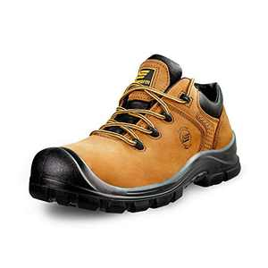 """AEGISWARM 6"""" Steel Toe Shoes for Men, Safety Work Shoes Non Slip Non Oil and Abrasion Resistance Leather Indestructible Shoes 9.5"""
