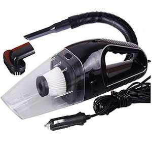 Portable Handheld High Power Car Vacuum Cleaner 120W 4000pa with Cigarette Plug, Cleaning Seat, Carpet, Pet Hair, Soot, Bread Crumbs Dust in Car VC-311 - Black