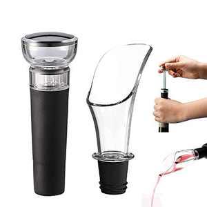 MOMOCAT Vacuum Wine Stopper and Wine Pourer (2 Pack)