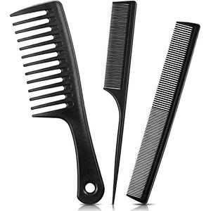 3 Pieces Styling Hair Comb Set Wide Tooth Hair Comb Anti Static Heat Resistant Tail Comb Fine and Wide Tooth Comb Hair Cutting Comb for Different Hair Types Women Men