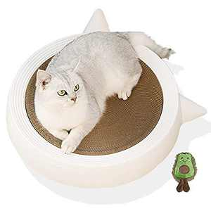 Marchul Durable Scratching Pad for Indoor Cats, Kitten Scratcher Cardboard Bed