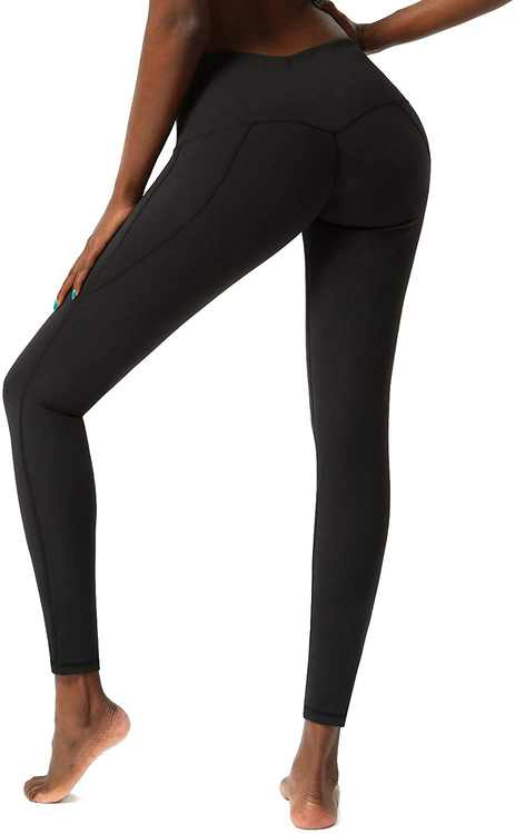 SKYSPER Leggings Womens,Black Leggings,Yoga Pants with Pockets,High Waist Workout Running Tummy Control Stretch Fitness Sports Tights