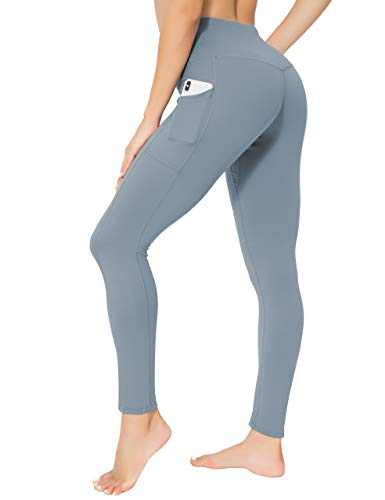 oyioyiyo High Waisted Yoga Pants Tummy Control Athletic Workout Running Leggings with Pockets for Women(PY010-Light NB-L)