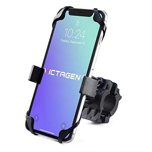 Bike Phone Mount for Any Smart Phone: iPhone 11 PRO Max XS XR X 8 7 6 5 Plus Samsung Galaxy S20 S10 S9 S8 S7 S6 S5 Edge, LG. Motorcycle, Bicycle Phone Mount.