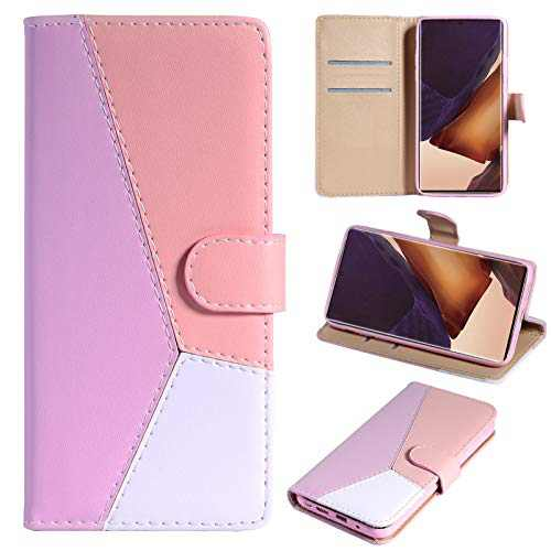 "iPhone 11 Wallet Case PU Leather Folio Flip Magnetic Cover Credit Card Holder Kickstand Protective Shockproof Folding Case for Women Girls Men for iPhone 11 6.1""-Pink"