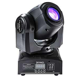 ZKYMZL Moving Head Light 30W DJ Lighting Stage Lights with 15 Colors by Sound Activated and DMX 512 Control Spot Light for Wedding Disco Party Nightclub Church.