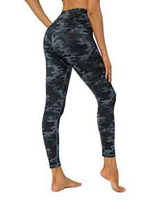 YUANRANER Leggings for Women High Waisted Workout Athletic Tummy Control Yoga Pants Compression Running Leggings with Inner Pocket Deep Grey Camo-M CL210