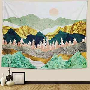 Tapestry Landscape Mountain Wall Hanging Home Decor Home Art(51.2 x 59.1 inches, 130x150 cm) (51.2 x 59.1 inches)