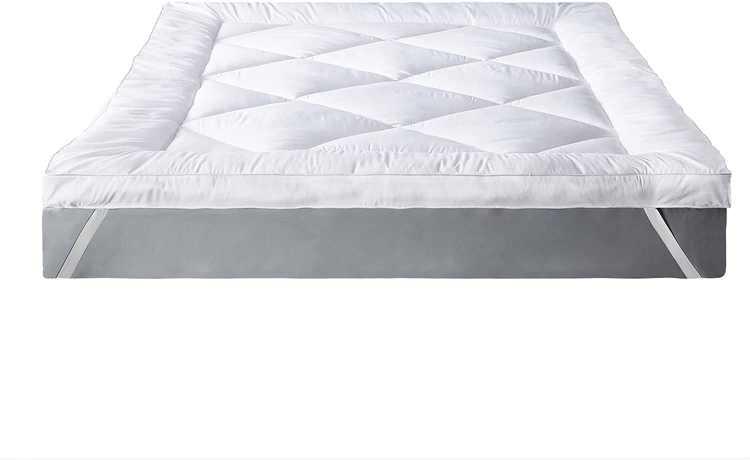 IMISSYOU Microfibre Mattress Topper 3 Inch, Hypoallergenic Mattress Topper Double Size, Hotel Quality Bed Topper, Down Alternative Mattress Pad 135x190cm, 3-Year Warranty
