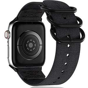 Muranne Bands Compatible with Apple Watch Band 38mm 40mm iWatch SE Series 6 5 4 3 2 1 for Women Men, Black, Medium